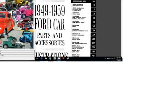 Ford Mercury Lincoln parts interchange manual 1950-1974 n illustration Catalog