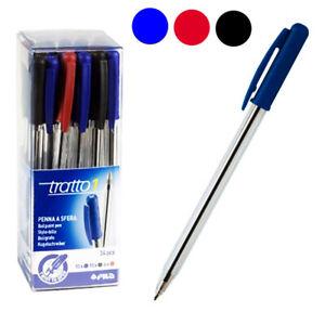 colore nero 50 Penne a Sfera 1 mm TRATTO Uno