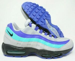Details about Nike Air Max 95 OG Running Shoes Wolf Grey Black Indigo Grape Size 10 Mens