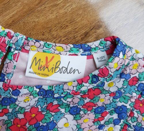 Mini Boden filles coton Smocks Top Avec à Volants Détail G0359 BRAND NEW