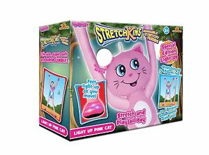 Stretchkins-Light-Up-Cat-Plush-Toy-Pink-KIDS-FUN-TOY-GIFT-IDEA-BRAND-NEW
