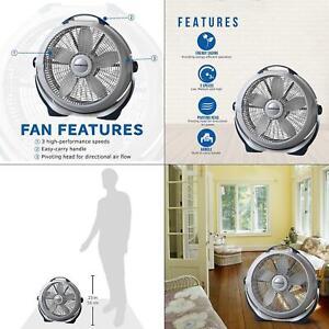 20-in-3-speed-floor-fan-lasko-wind-machine-cooling-gray-new-speeds-blade-span