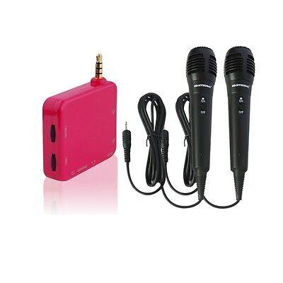 Mini Karaoke Mixer Converter for Smartphone,Tablets in Car/Outdoor/Home w/2 MICS