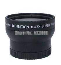 Durable 55mm 0.45X Fisheye Wide Angle Macro Conversion Lens For Canon Nikon Sony