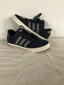 Details about adidas Neo Label kids shoes size 4 Blue Gray Skate Casual