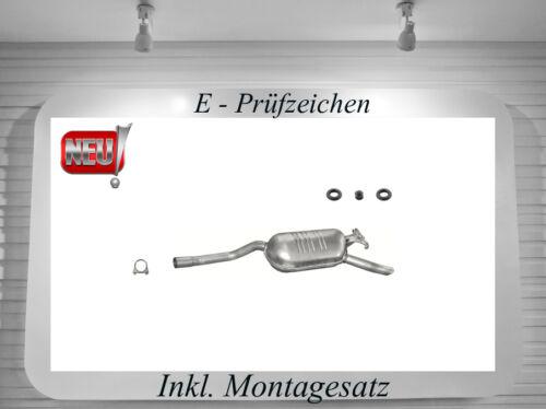 Auspuff Mercedes W124 E 200 E 220 200 E 220 E 2.0 2.2 Endschalldämpfer Anbausatz