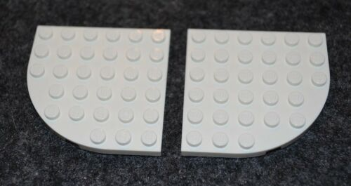 2 6x6 White Plate w// Rounded Corner Wing Plate Bricks ~ New Lego Parts