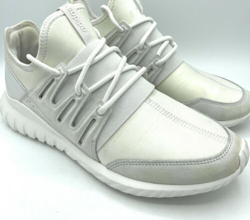 Mens ADIDAS TUBULAR RADIAL AQ6722 White Sneakers S