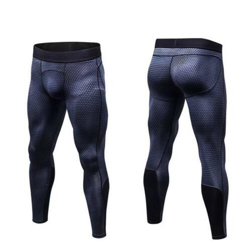 Men Compression Base Layer Bottom Long Pants Tight Jogging Fitness Sportswear UK