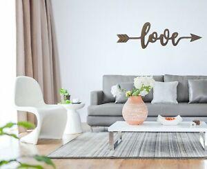 Bouleau Contreplaqué 400 mm Teinte Bois Love Flèche Arts Crafts Wall Art