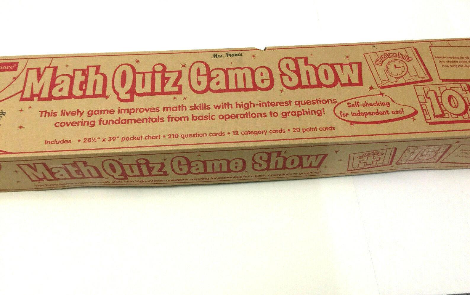 Lakeshore Math Quiz Game Show TT258 Grades 1st-3rd New