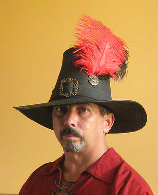 Medieval Celtic Renaissance SCA Larp Leather Witch Hunter of the Empire Hat
