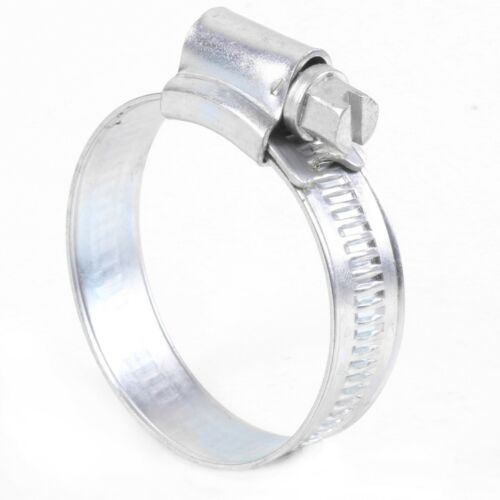 30mm-40mm ADJUSTABLE HOSE CLIPS Slotted Hex Drive Tube Connector CHOOSE QUANTITY