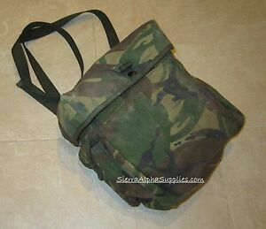 BRITISH ARMY SURPLUS ISSUE DPM IRR RESPIRATOR HAVERSACK,PLCE WEBBING POUCH G1,G2