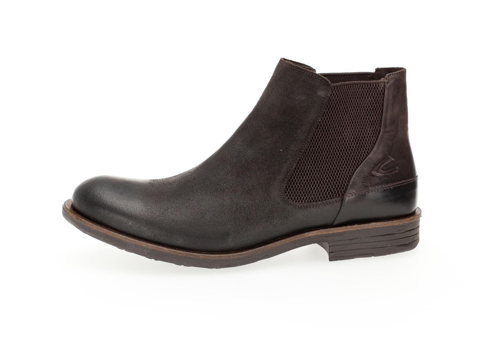 Camel Active señores zapato Check 13 chelsea bote zapato de cuero marrón NUEVO