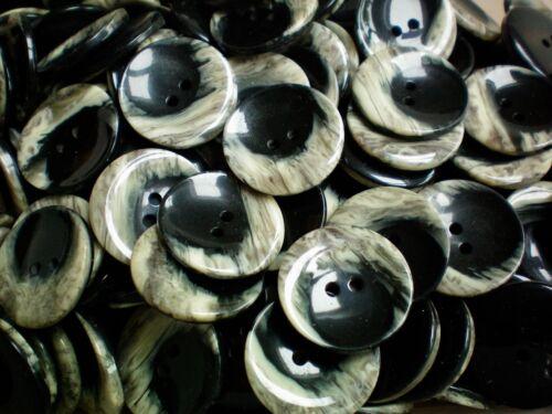 CB102 23mm 36L Negro y Efecto De Piedra Natural Beige 2 Agujero Chaqueta Abrigo Botones