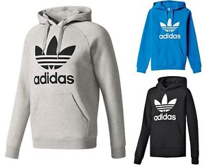 NUOVA-linea-uomo-Adidas-Original-Mens-Trifoglio-Felpa-con-Cappuccio-in-Pile-Con-Cappuccio-Felpa