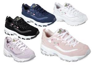 5 B Sneaker D in e Wide Med da Skechers fiori donna colori con qZwY4U