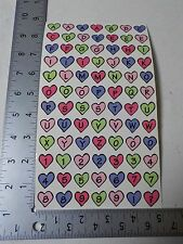 FRANCES MEYER HEARTS ALPHABET NUMBERS STICKERS SCRAPBOOKING A3055