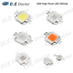 10W watts High Power SMD COB LED Chip Lights Beads White Red Blue UV Lamp Board