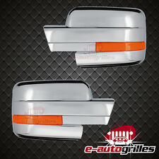 Triple Chrome Full Mirror Cover W/ Turn Signal Hole for 2009-2014 Ford F150