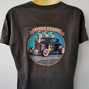 Hot-Rod-Speed-Demon-V8-T-Shirt-M-5XL-Ubergroesse-Plus-Size-Vintage