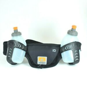 Nathan-Hydration-Belt-2-Water-Bottles-10oz-Each-Adjustable-Strap-Running-Hiking