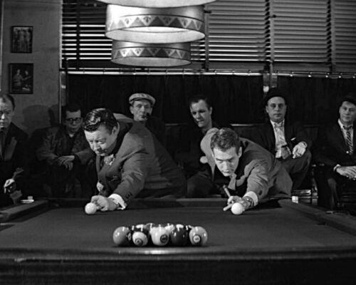 1961 Actors PAUL NEWMAN /& JACKIE GLEASON Glossy 8x10 Photo THE HUSTLER Print