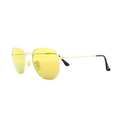 fdb67252c4ac7 Ray-Ban Sunglasses Hexagonal 3548N 001 93 Gold Yellow Mirror   eBay