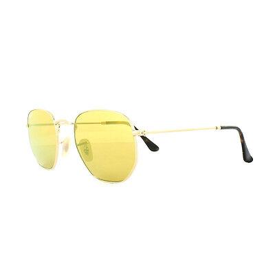 e94c5fef1f2 Ray-Ban Sunglasses Hexagonal 3548N 001 93 Gold Yellow Mirror
