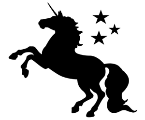 Details about Unicorn Stencil - Airbrush Crafting Canvas decor Wall art