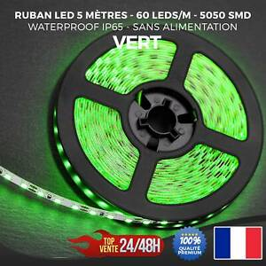 Ruban LED Bande Strip 5050 SMD 300 LED Etanche Ip65 5 Mètres Vert