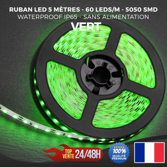 Ruban LED Bande Guirlande Strip 5050 SMD 300 LED Waterproof IP65 5M 12V Vert
