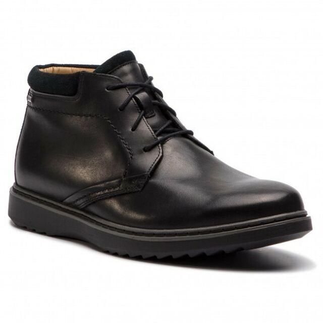 Clarks Mens Smart Banfield Zip Leather