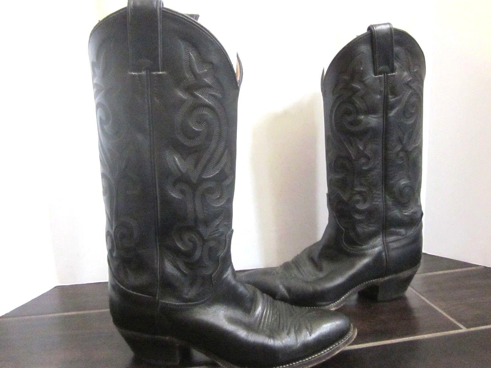 Justin Black Womens L4911 London Calf Western Cowgirl Boots Sz. 6.5 D (A04)