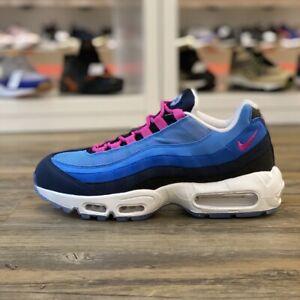 Détails sur Nike Air Max 95 Id Gr.41 Chaussures Baskets Bleu Rose 818593 996 Course Retro