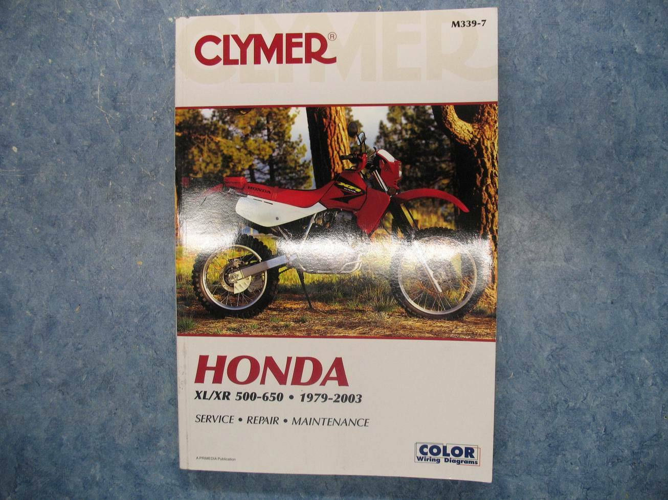 Clymer Honda 1979 2003 Xl Xr 500 650 Service Repair Maintenance 02 Wiring Diagram Manual Ebay