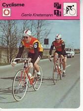 CYCLISME carte cycliste fiche photo GERRIE KNETEMANN