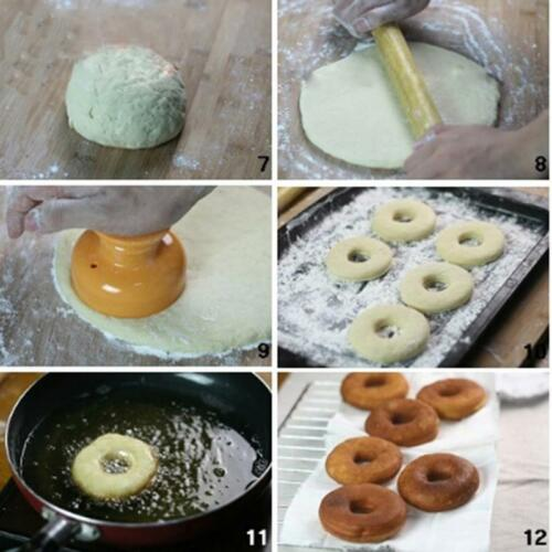 Plastic Doughnut DIY Donut Maker Cutter Mold Desserts Bakery Baking Mould ToolO3