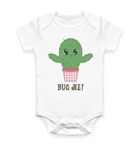 Funny Cactus Hug Me Cool Baby Grow Body Bébé Costume Cadeau Idéal Unisexe 2327