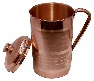 1500 äSthetisches Aussehen Servierware Und Trinkgefäße Aufrichtig Kupferkanne Krug Mit 2 Glasbecher Ayurveda
