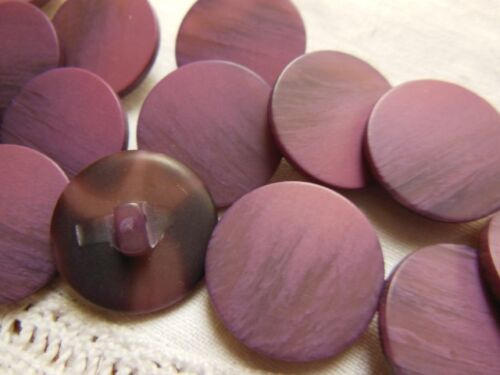 2 cm TC lot 8 boutons vieux rose violet à pied couture mercerie diamètre
