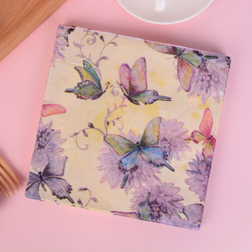 20pcs Butterfly Pattern Decoupage Napkin Paper Tissue for Xmas Wedding  SG