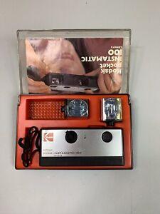 Kodak-Instamatic-100-camara-de-cine-y-caja-de-presentacion