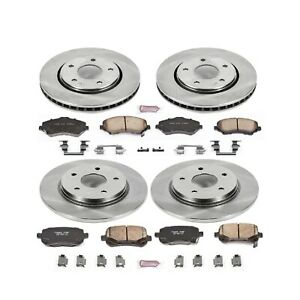 BLACK ELINE FULL KIT DRILLED SLOTTED BRAKE ROTORS /& CERAMIC BRAKE PADS A150