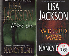 Complete Set Lot of 4 Wicked Series books by Lisa Jackson and Nancy Bush Fiction