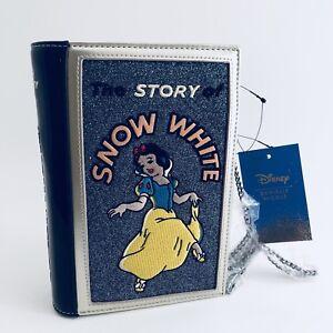 Details about Danielle Nicole Disney Parks Snow White Book Purse Hand Bag Clutch Dwarfs NEW