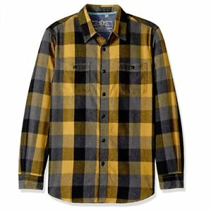 True-Grit-Mens-Roadtrip-Plaid-Two-Pocket-Heather-Long-Sleeve-Flannel-Shirt-Small