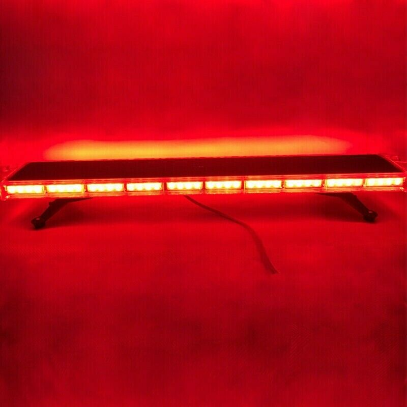 RED Vehicle Roof Top RED COB LED Strobe Emergency Warning Flash Light Bar. Brand New Products.