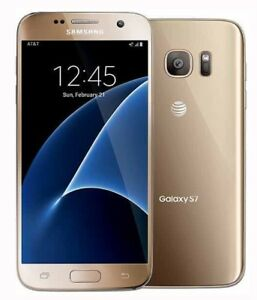 Unlocked Samsung Galaxy S7 Sm G930a 32gb Gold Platinum At T T Mobile Phone Ebay